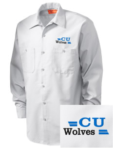 Cheyney University Wolves Embroidered Men's Industrial Work Shirt - Regular