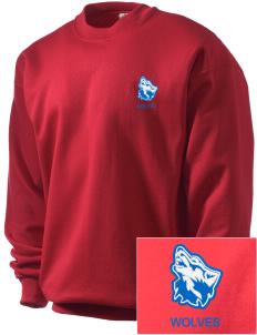 Cheyney University Wolves Embroidered Men's Crewneck Sweatshirt