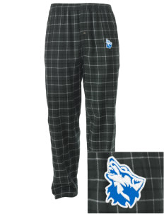 Cheyney University Wolves Embroidered Men's Button-Fly Collegiate Flannel Pant