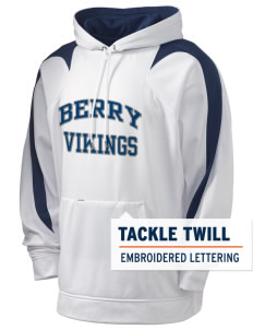 Berry College Vikings Holloway Men's Sports Fleece Hooded Sweatshirt with Tackle Twill