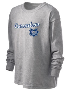 University of Dallas Crusaders Kid's 6.1 oz Long Sleeve Ultra Cotton T-Shirt