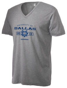University of Dallas Crusaders Alternative Men's 3.7 oz Basic V-Neck T-Shirt