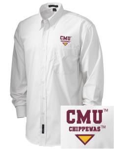 Central Michigan University Chippewas  Embroidered Men's Easy Care, Soil Resistant Shirt