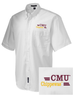 Central Michigan University Chippewas  Embroidered Men's Easy-Care Shirt