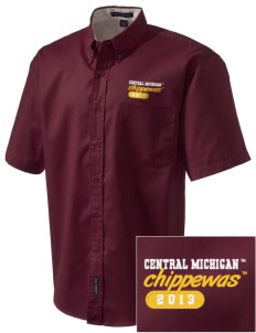 Central Michigan University Chippewas Embroidered Men's Easy Care Shirt