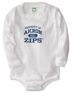 The University of Akron Zips  Baby Long Sleeve 1-Piece with Shoulder Snaps