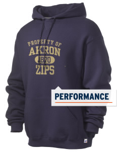 The University of Akron Zips Russell Men's Dri-Power Hooded Sweatshirt
