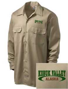 Kobuk Valley National Park Embroidered Dickies Men's Long-Sleeve Workshirt