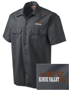 Kobuk Valley National Park Embroidered Dickies Men's Short-Sleeve Workshirt