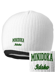 Minidoka National Historic Site Embroidered Champion Striped Knit Beanie
