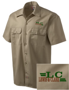 Lewis & Clark National Historic Trail Embroidered Dickies Men's Short-Sleeve Workshirt