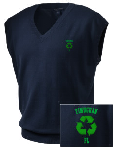 Timucuan Ecological & Historic Preserve Embroidered Men's Fine-Gauge V-Neck Sweater Vest