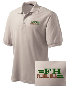 Federal Hall National Memorial Embroidered Men's Silk Touch Polo