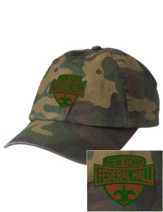 Federal Hall National Memorial Embroidered Camouflage Cotton Cap