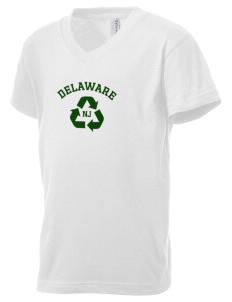 Delaware National Scenic River Kid's V-Neck Jersey T-Shirt