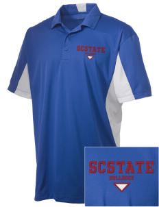 South Carolina State University Bulldogs Embroidered Men's Side Blocked Micro Pique Polo