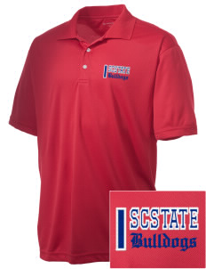 South Carolina State University Bulldogs Embroidered Men's Double Mesh Polo