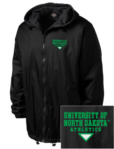University of North Dakota Athletics Embroidered Dickies Men's Fleece-Lined Hooded Jacket