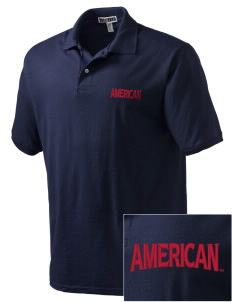 American University Eagles Embroidered Men's Jersey Polo