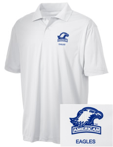 American University Eagles Embroidered Men's Micro Pique Polo