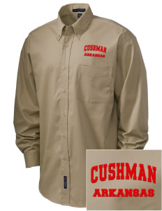 Cushman Embroidered Men's Easy-Care Shirt