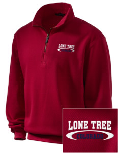 Lone Tree Embroidered Men's 1/4-Zip Sweatshirt