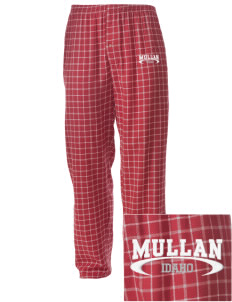 Mullan Embroidered Men's Button-Fly Collegiate Flannel Pant
