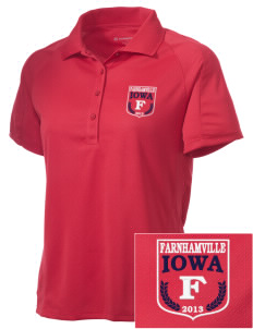 Farnhamville Embroidered Women's Polytech Mesh Insert Polo