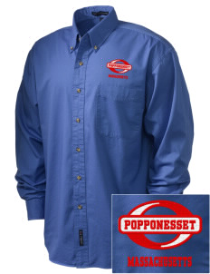 Popponesset Embroidered Tall Men's Twill Shirt