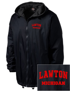 Lawton Embroidered Dickies Men's Fleece-Lined Hooded Jacket