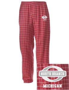 North Branch Embroidered Men's Button-Fly Collegiate Flannel Pant
