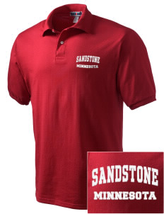 Sandstone Embroidered Men's Jersey Polo