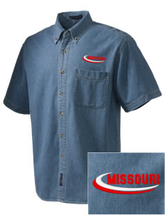 Whiteman AFB  Embroidered Men's Denim Short Sleeve