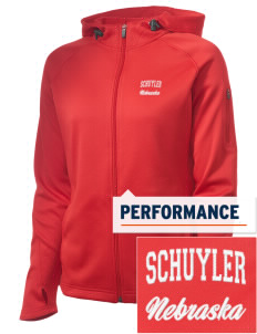 Schuyler Embroidered Women's Tech Fleece Full-Zip Hooded Jacket