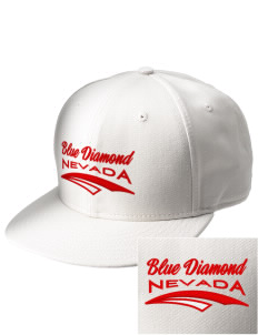 Blue Diamond  Embroidered New Era Flat Bill Snapback Cap