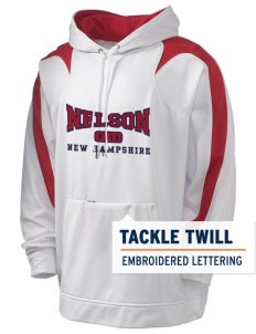 Nelson Holloway Men's Sports Fleece Hooded Sweatshirt with Tackle Twill