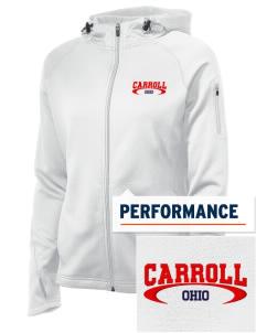 Carroll Embroidered Women's Tech Fleece Full-Zip Hooded Jacket
