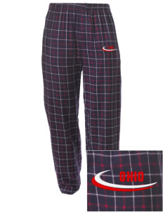 Granville South Embroidered Men's Button-Fly Collegiate Flannel Pant