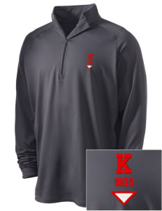 Kenton Embroidered Men's Stretched Half Zip Pullover