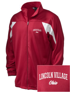 Lincoln Village Embroidered Holloway Men's Full-Zip Track Jacket