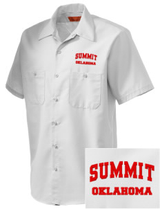 Summit Embroidered Men's Cornerstone Industrial Short Sleeve Work Shirt