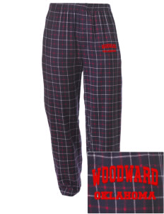 Woodward Embroidered Men's Button-Fly Collegiate Flannel Pant