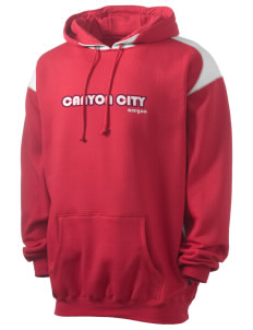 Canyon City Men's Pullover Hooded Sweatshirt with Contrast Color