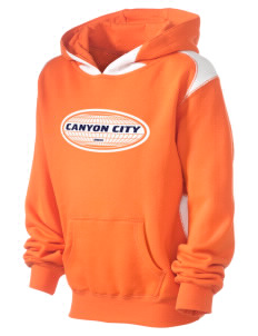 Canyon City Kid's Pullover Hooded Sweatshirt with Contrast Color