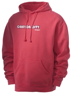 Canyon City Men's 80/20 Pigment Dyed Hooded Sweatshirt