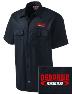 Osborne Embroidered Dickies Men's Short-Sleeve Workshirt