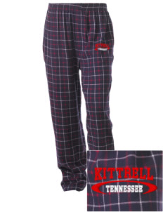 Kittrell Embroidered Unisex Button-Fly Collegiate Flannel Pant
