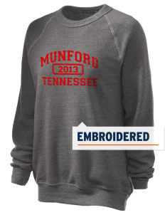 Munford Embroidered Unisex Alternative Eco-Fleece Raglan Sweatshirt