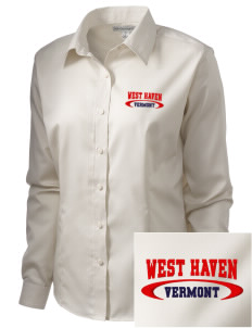 West Haven  Embroidered Women's Long Sleeve Non-Iron Twill Shirt