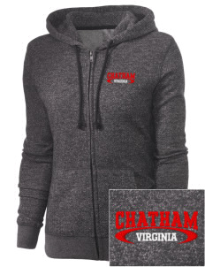 Chatham Embroidered Women's Marled Full-Zip Hooded Sweatshirt